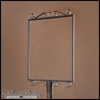 Outdoor Metal Sign Holders & Decorative Wrought Iron Sign ...