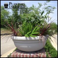 Outdoor or Indoor Low Bowl Planters, Custom Sizes, Styles