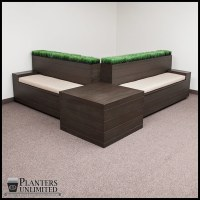 Bench Systems with Integrated Commercial Planters|Planters ...