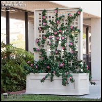 Rolling Trellis Space Divider w/ Outdoor Rated Vines 72inL ...