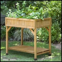 Standing Height Cedar Herb Garden Planter