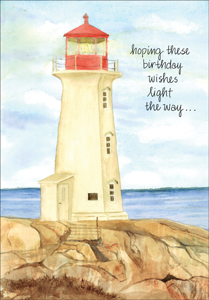 Masculine Birthday Card With Lighthouse It Takes Two Inc