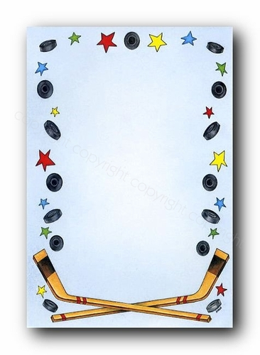 Hockey Border Clip Art Pictures to Pin on Pinterest