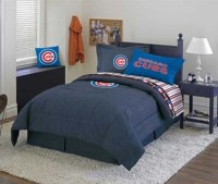 Chicago Cubs Bed Sheets Bedding Linens Comforter Drapes