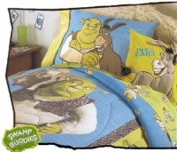 """SHREK SWAMP BUDDIES"" Twin Comforter/Sheet Set - Only $79.99"
