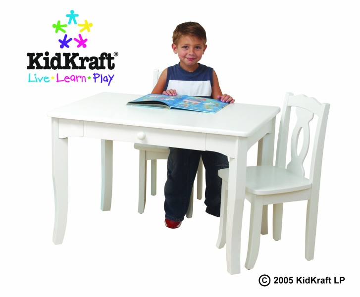 kidkraft white table and chairs hanging chair stand outdoor brighton