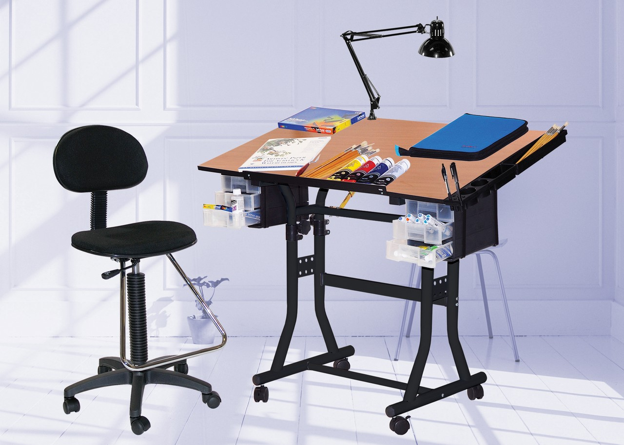 drafting table chairs evenflo expressions high chair the creation station combo package with click to enlarge loading zoom