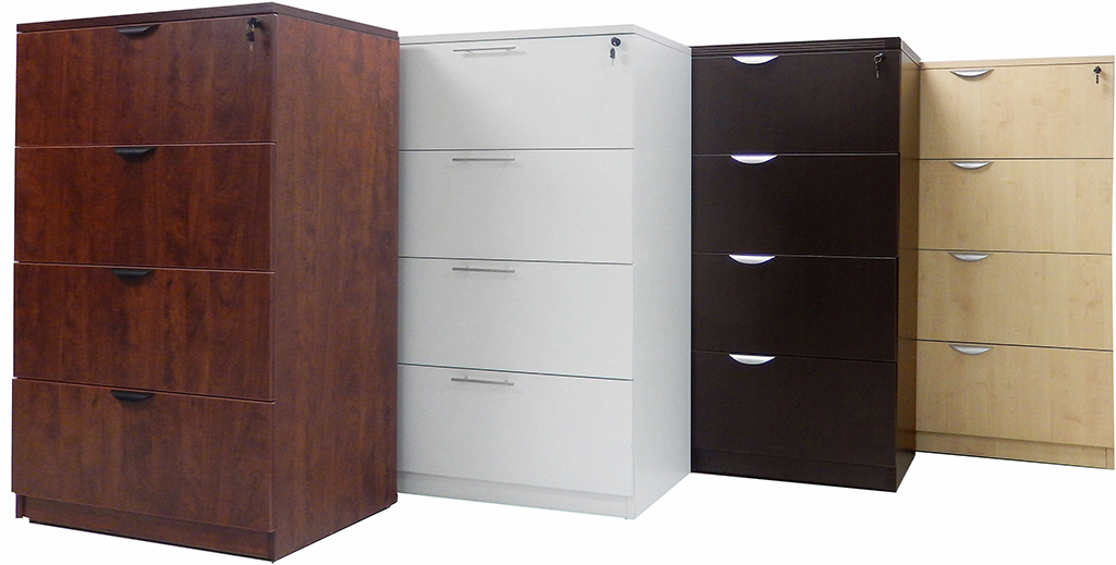4Drawer Laminate Lateral Files  In Stock
