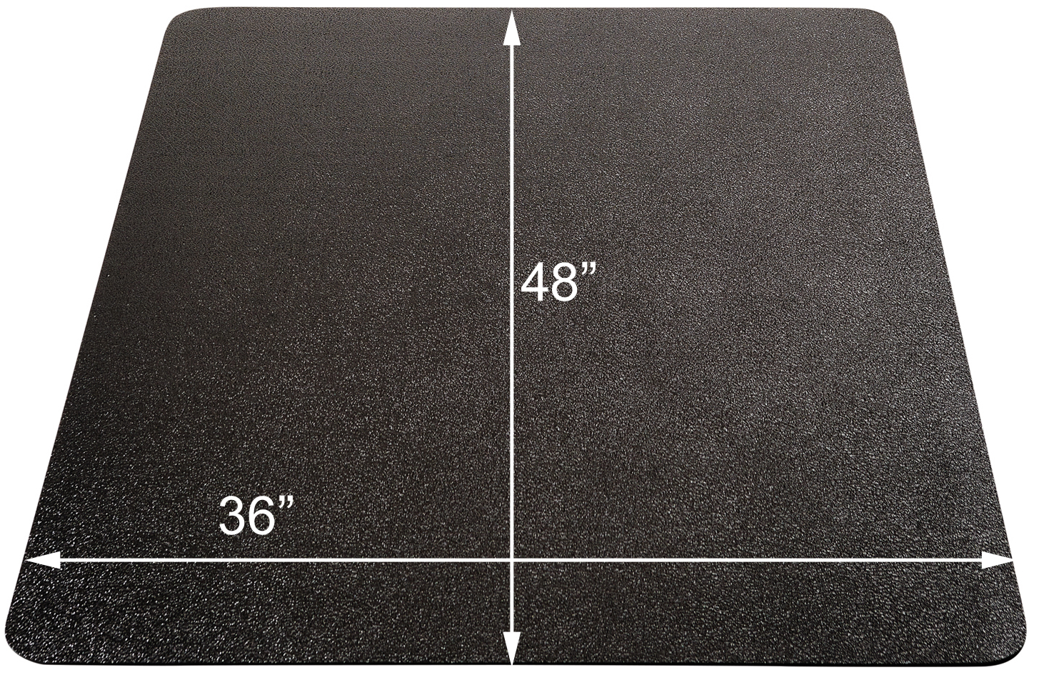 Chair Floor Mat Black Chair Mats For Hard Floors 36 Quotx 48 Quot Rectangular