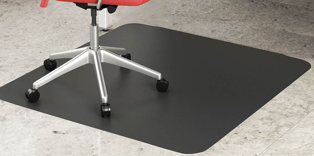 Black Chair Mats for Hard Floors  36x 48 Rectangular