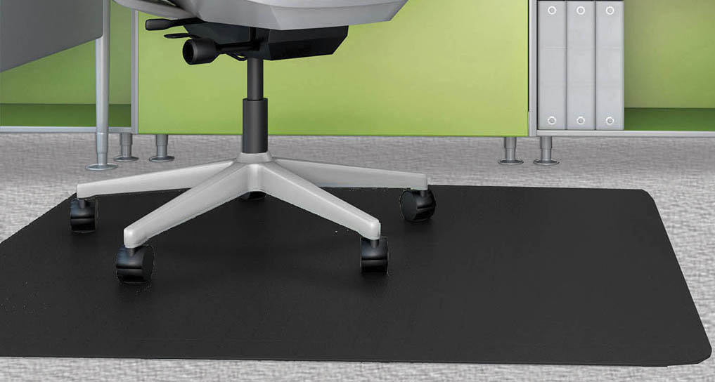 Black Chair Mats for Low Pile Carpets  36x 48