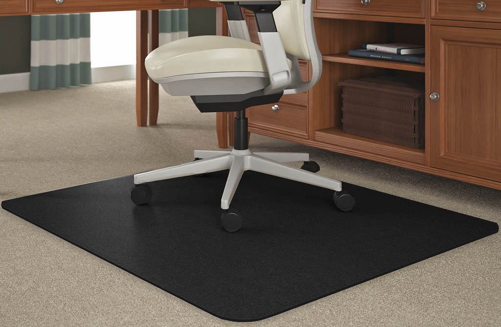 Black Chair Mats for Medium Pile Carpets  36x 48