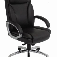 Big And Tall Office Chairs For Tweens Black Leather Chair W 350 Lb Capacity