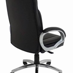 Big Mans Chair Stunning Steel Attacks Black Leather Tall Office W 350 Lb Capacity