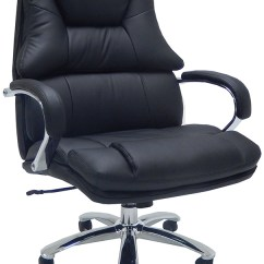 Modern Grey Leather Office Chair Crayola Table And Chairs Extra Wide 500 Lbs Capacity Desk W 28 Seat