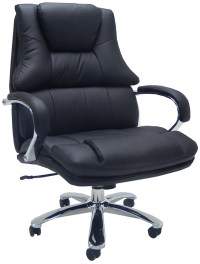 """Extra Wide 500 Lbs. Capacity Leather Desk Chair w/ 28""""W Seat"""
