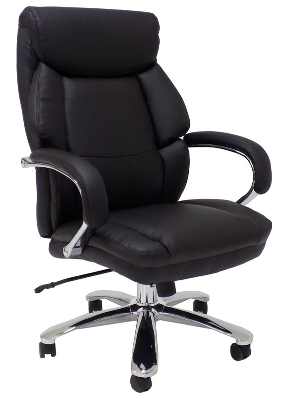 modern grey leather office chair wheelchair friendly extra wide 500 lbs capacity w 24 seat