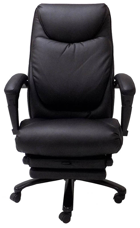 Heated Massage Reclining Leather Office Chair wFootrest
