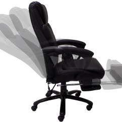 Desk Chair Footrest Office Cad Block Heated Massage Reclining Leather W
