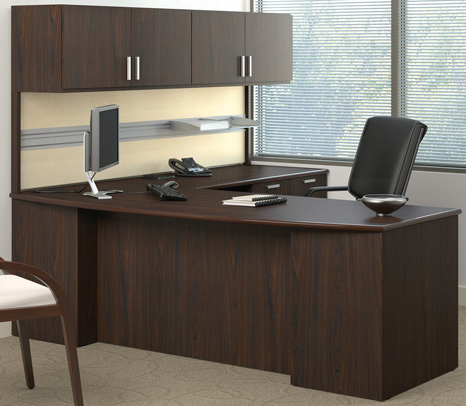 Methods Custom 84 Managers Ldesk w Wall Mounted Hutch