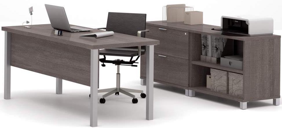Pro Linear Metal Leg Modular Office Desk Series Executive