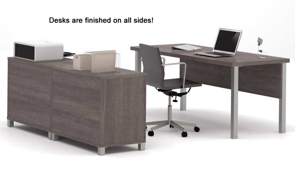 Pro Linear Metal Leg Modular Office Desk Series