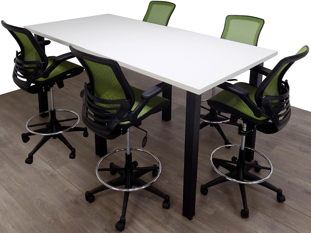 Standing Height Conference Tables wSquare Black Legs