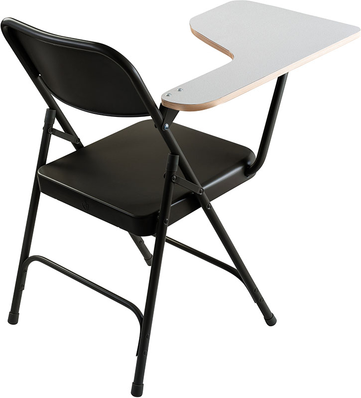 folding chair desk best office for 12 hours steel with tablet arm 300 lb capacity