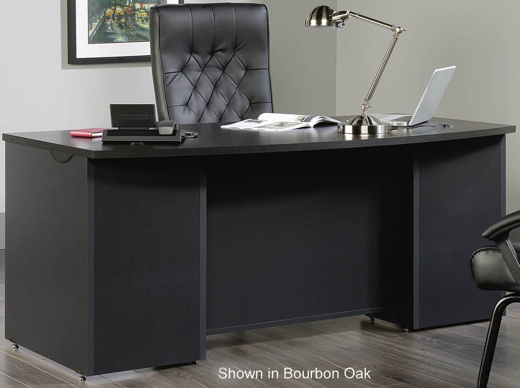 Via Modular Office Desk Collection  72 Bow Front Desk Shell