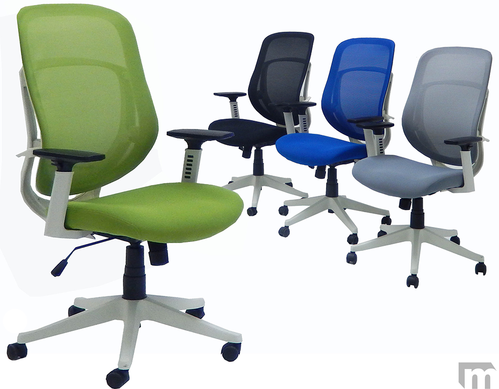 Mesh Ergonomic Office Chair White Frame Ergonomic Mesh Chair