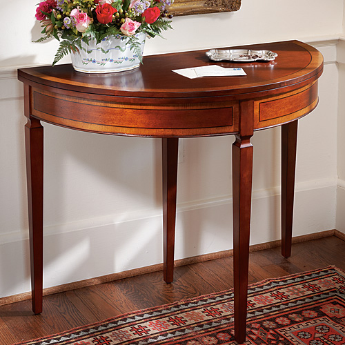 Mahogany DemiLune Card Table