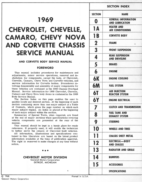 small resolution of 1969 chevrolet chassis service manual the motor bookstore rh themotorbookstore com 69 camaro frame 1969 camaro rear end