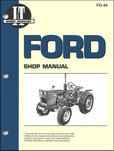 1100 Ford Tractor Wiring Diagram Ford Tractor Repair Manual By Clymer Free Shipping