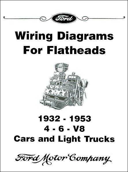 1932-1953 Licensed Ford Wiring Diagrams for Flathead Engines