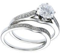 White Gold Diamond Ring & Band Wedding Set