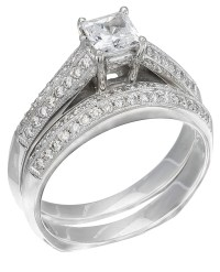 RWG222 Discounted Price White Gold Diamond Ladies Ring