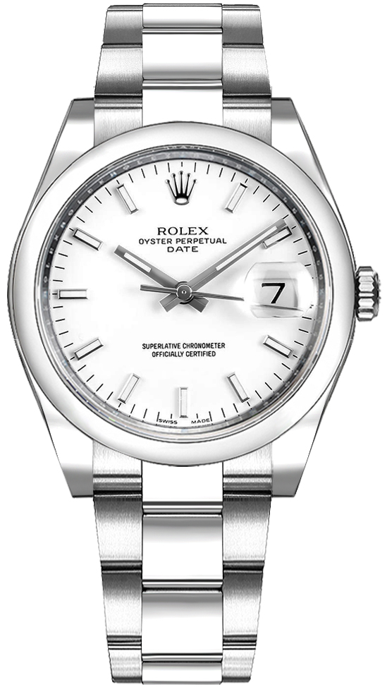 Rolex 115200 White Dial Date Men's Watch Sale