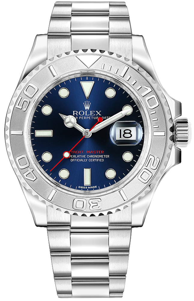 116622 BLU Rolex Yacht Master 40 Mens Watches