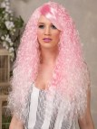 Long Curly Pink Wig