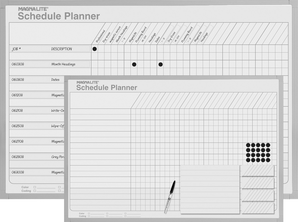 Magnetic Scheduling Boards