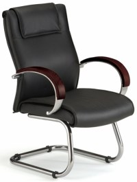 Conference Chairs - Leather Conference Chair with Wood ...