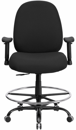 hercules big and tall drafting chair cover sash hire essex office wl-715mg-bk-d-gg|office chairs unlimited