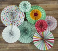 Easter Paper Flower Pinwheel Backdrop Party Wall