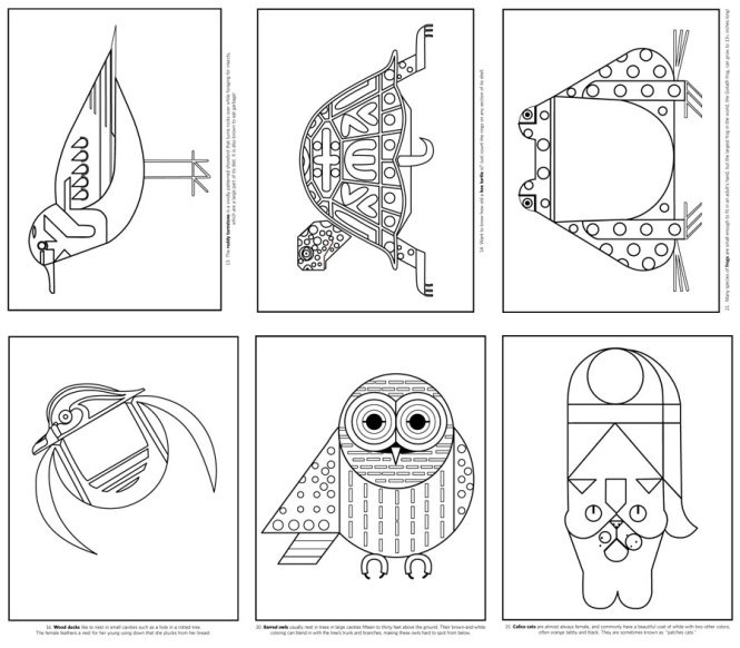 charley harper coloring book   Coloring Page for kids