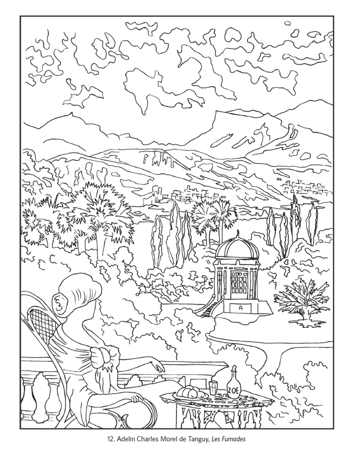 France Travel Posters Coloring Book