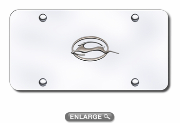 3D Chrome Chevy Impala Logo Stainless Steel License Plate