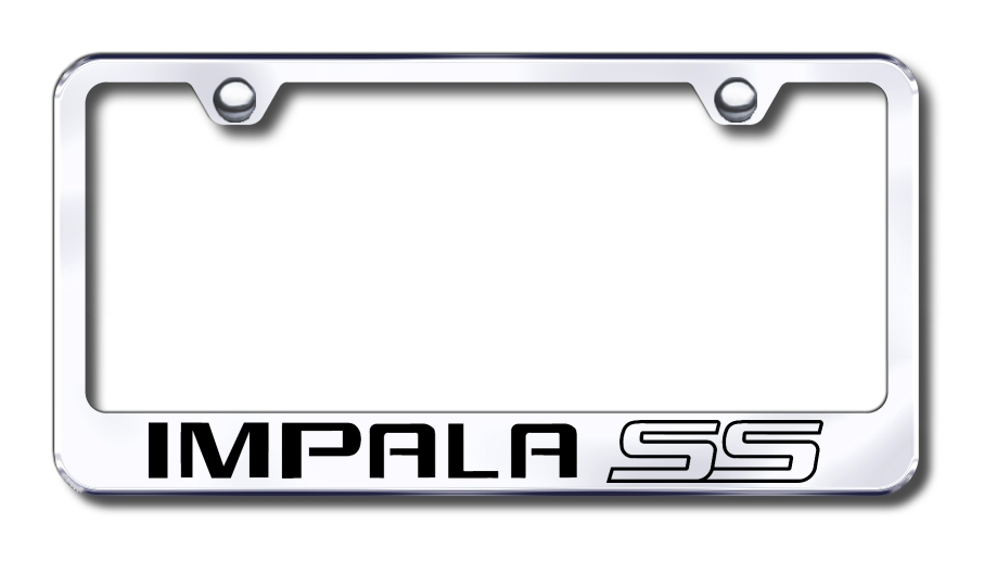 Chevy Impala SS Laser Etched Stainless Steel License Plate