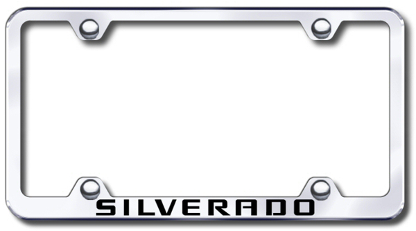 Chevy Silverado Laser Etched Stainless Steel Wide License