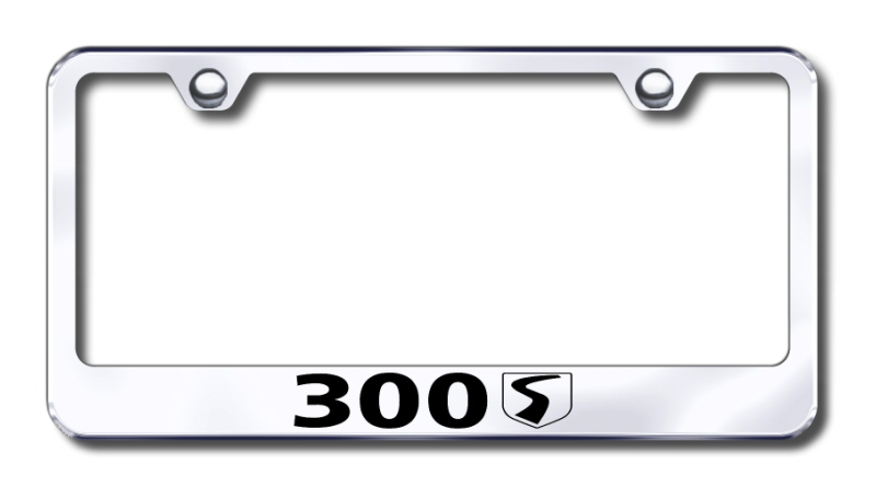 Chrysler 300S Laser Etched Stainless Steel License Plate