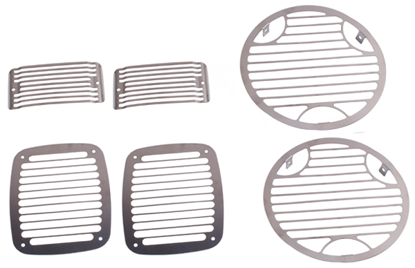 Jeep Wrangler 6 Piece Stainless Steel Stone Guard Set
